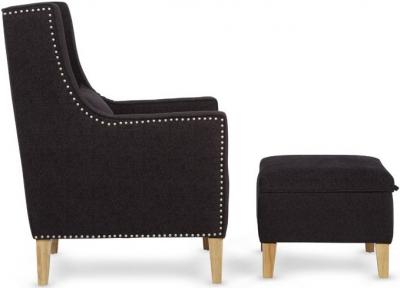 Serene Leven Aubergine Fabric Chair