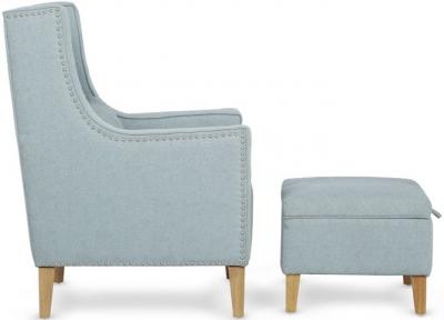 Serene Leven Duck Egg Grey Fabric Chair