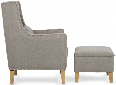 Serene Leven Silver Fabric Chair