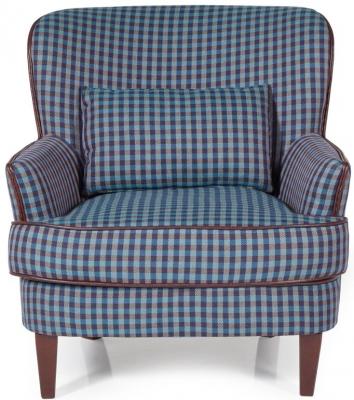 Serene Moffat Blue Fabric Chair