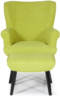 Serene Oban Green Fabric Armchair