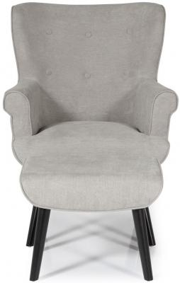 Serene Oban Grey Fabric Chair