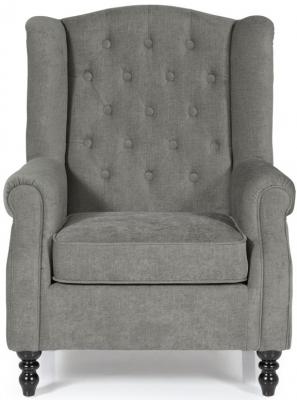 Serene Perth Grey Fabric Chair