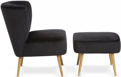 Serene Prestwick Black Fabric Armchair