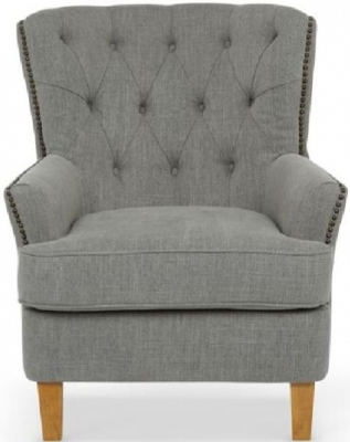 Serene Selkirk Grey Fabric Chair