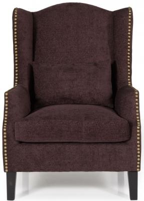 Serene Stirling Aubergine Fabric Chair