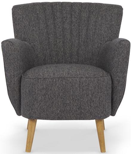 Serene Alloa Fabric Armchair - Charcoal