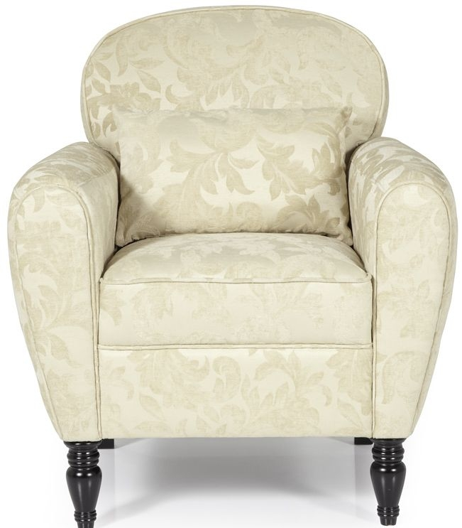 Serene Arden Cream Fabric Chair