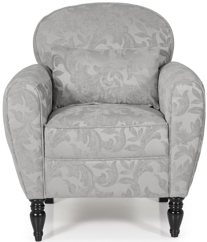 Serene Arden Silver Fabric Chair