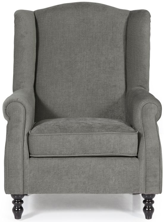 Serene Ayr Grey Fabric Armchair