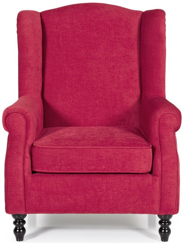 Serene Ayr Red Fabric Chair