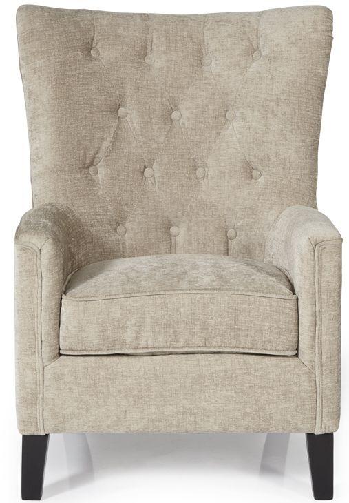 Serene Dunbar Mink Fabric Chair