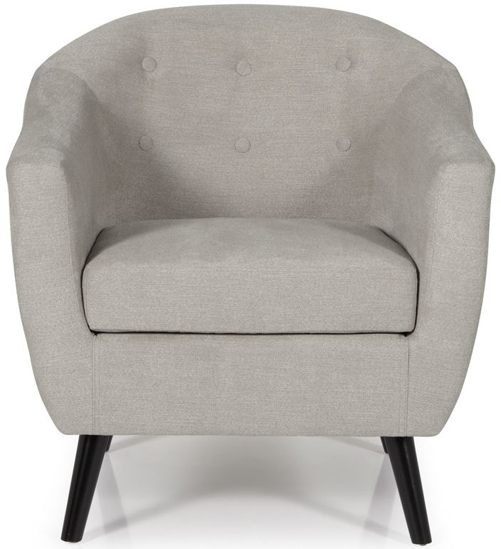 Serene Evie Grey Fabric Armchair