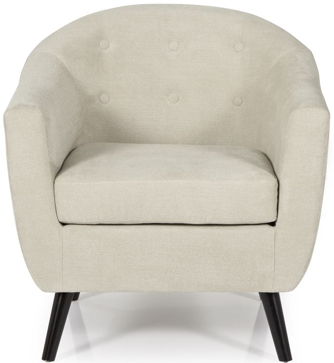 Serene Evie Mink Fabric Chair
