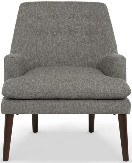 Serene Falkirk Grey Fabric Chair