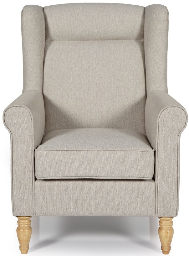 Serene Glasgow Latte Fabric Armchair