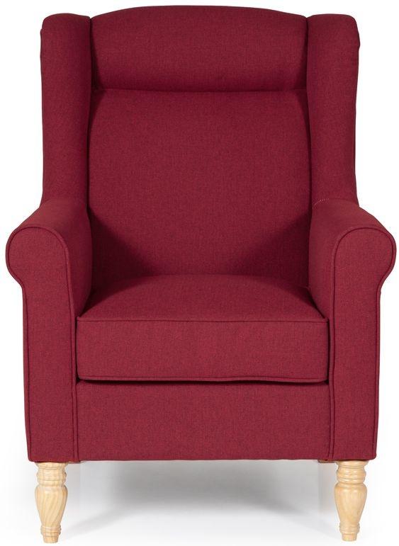 Serene Glasgow Scarlet Fabric Chair