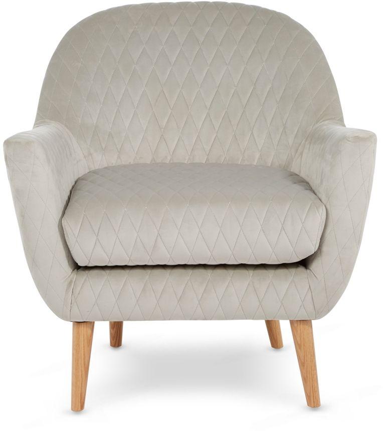 Serene Hamilton Silver Fabric Armchair
