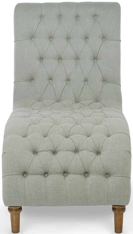 Serene Inverness Duck Egg Grey Fabric Chair