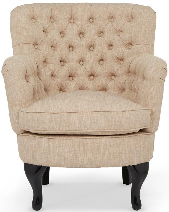 Serene Irvine Mink Fabric Armchair