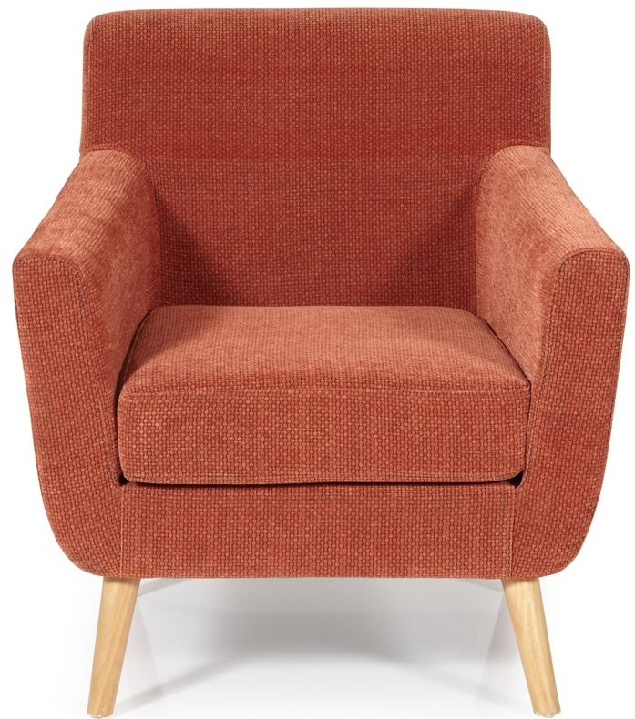Serene Kelso Orange Fabric Armchair