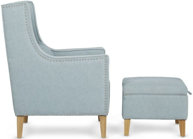 Serene Leven Duck Egg Grey Fabric Chair