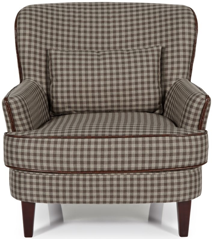 Serene Moffat Brown Fabric Armchair
