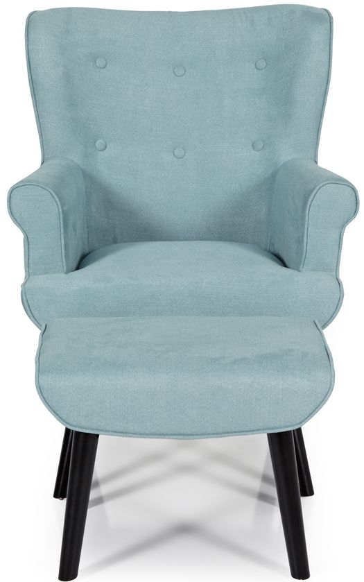 Serene Oban Duck Egg Fabric Armchair