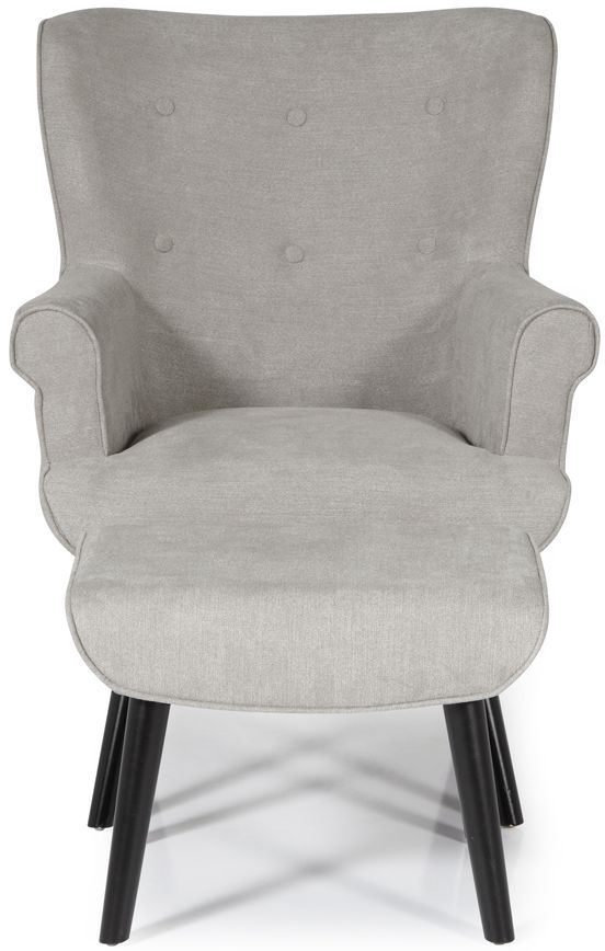 Serene Oban Grey Fabric Armchair