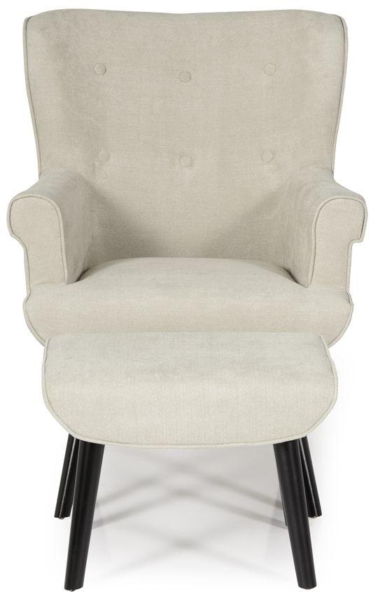 Serene Oban Mink Fabric Armchair
