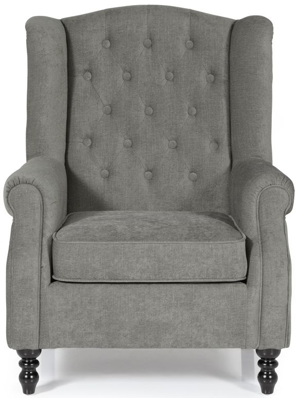 Serene Perth Grey Fabric Armchair