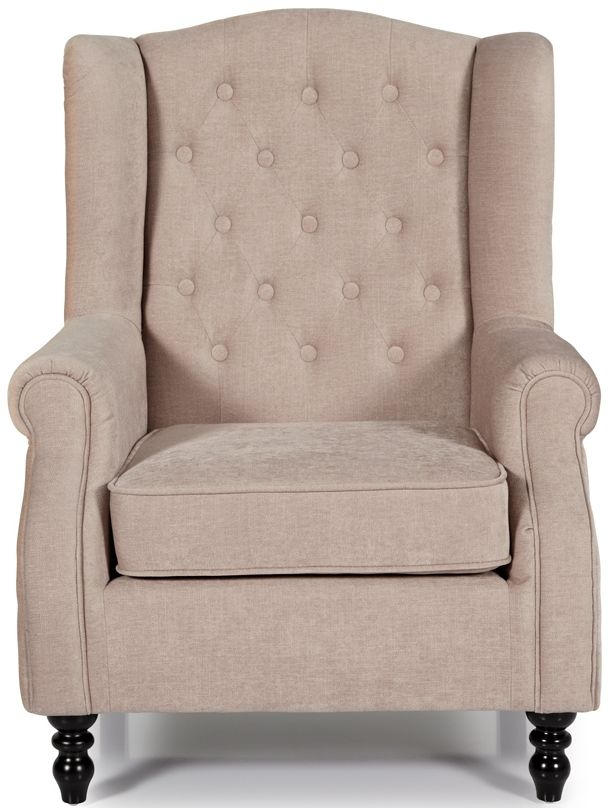 Serene Perth Mink Fabric Chair