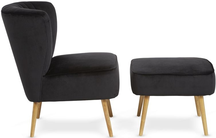 Serene Prestwick Black Fabric Armchair