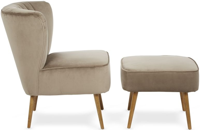 Serene Prestwick Mink Fabric Chair