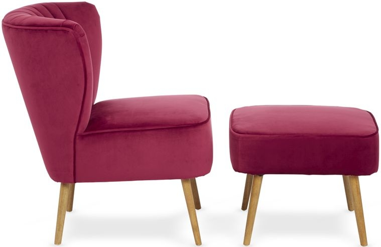 Serene Prestwick Ruby Fabric Chair