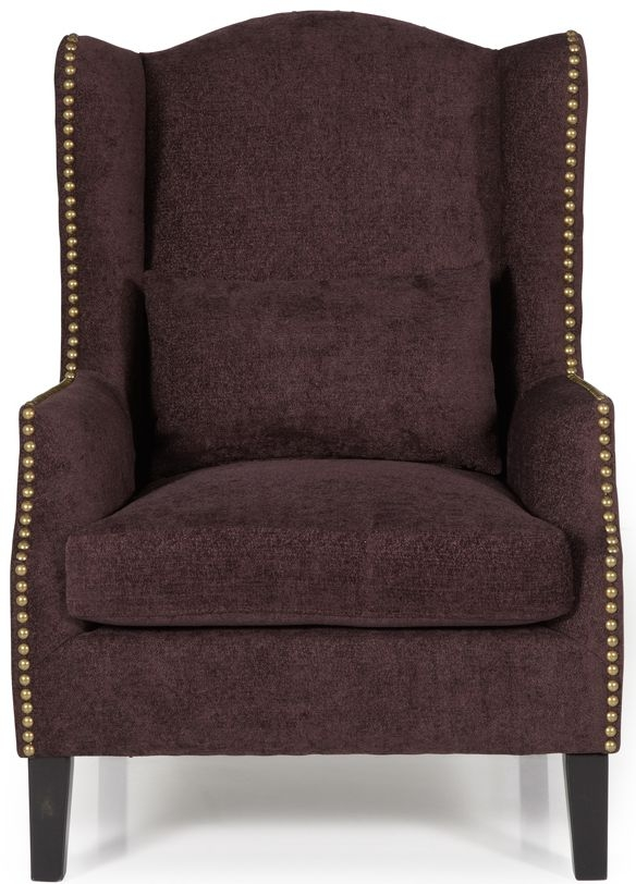 Serene Stirling Aubergine Fabric Armchair