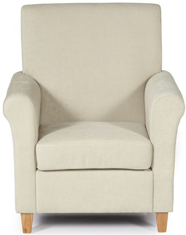 Serene Thurso Cream Fabric Armchair