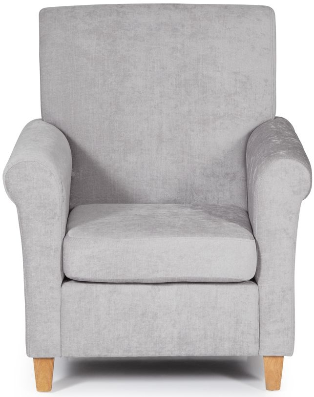 Serene Thurso Grey Fabric Armchair