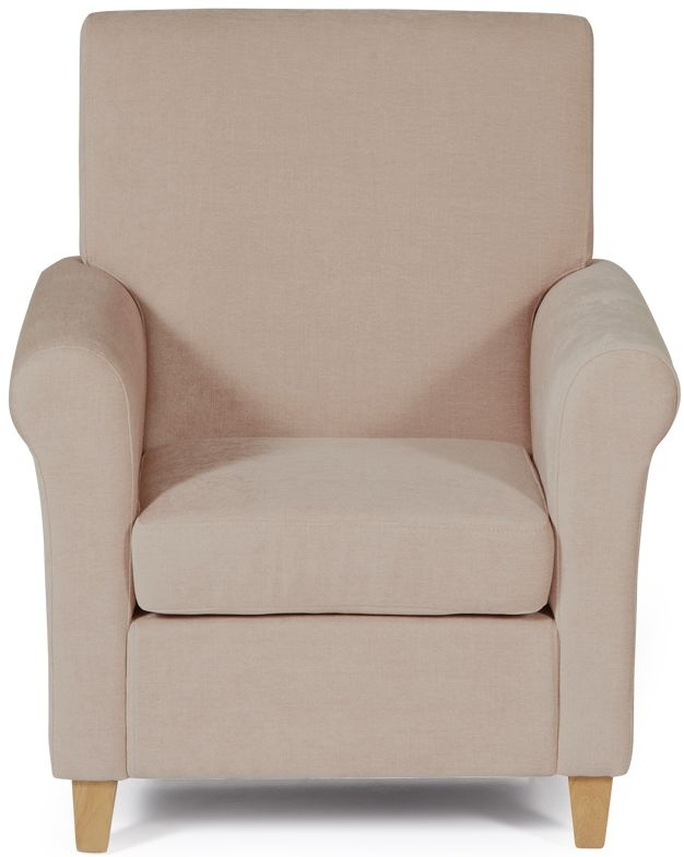 Serene Thurso Mink Fabric Armchair