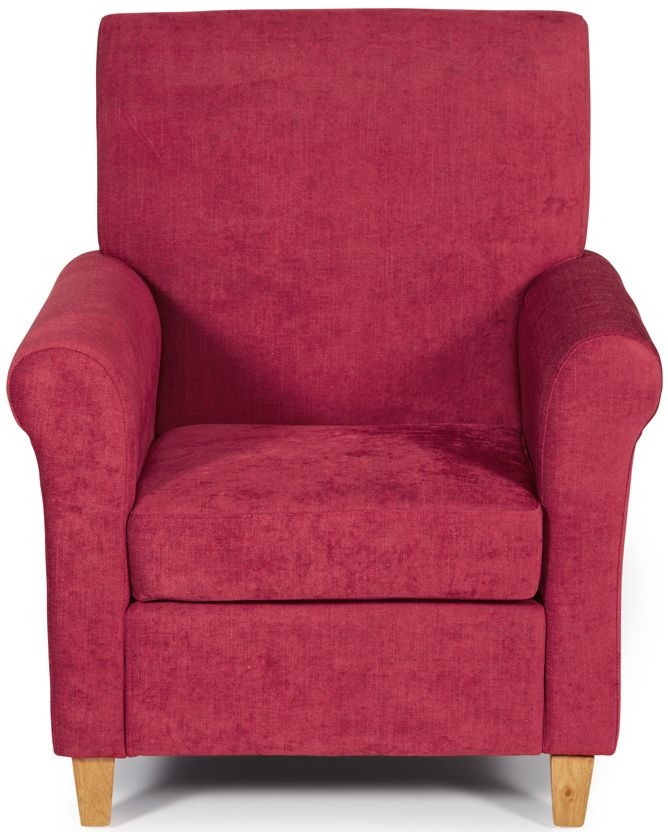 Serene Thurso Red Fabric Chair
