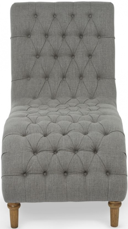Serene Inverness Grey Fabric Lounge Chaise