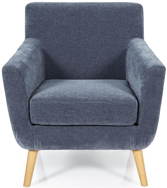 Serene Kelso Blue Fabric Armchair