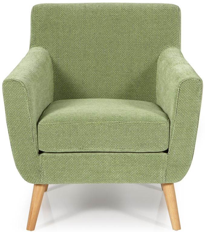 Serene Kelso Green Fabric Armchair