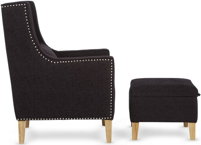 Serene Leven Aubergine Fabric Chair