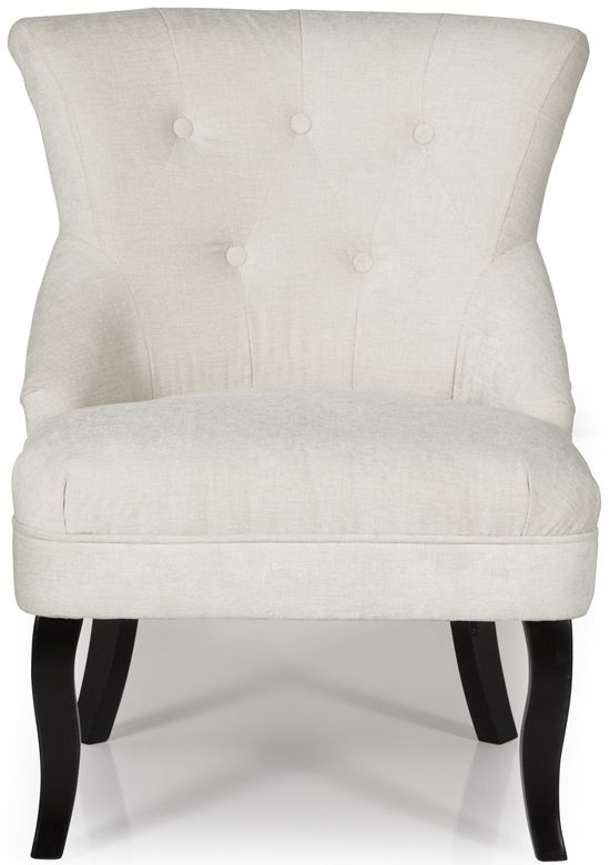 Serene Melrose Pearl Fabric Armchair
