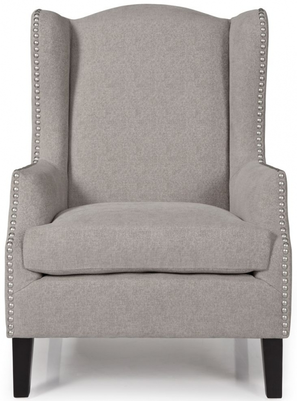 Serene Stirling Silver Fabric Armchair