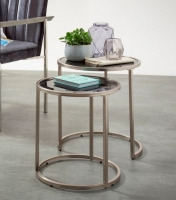 Serene Casey Nest of Table - Glass and Chrome