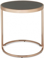 Serene Dawn Rose Gold and Glass Lamp Table