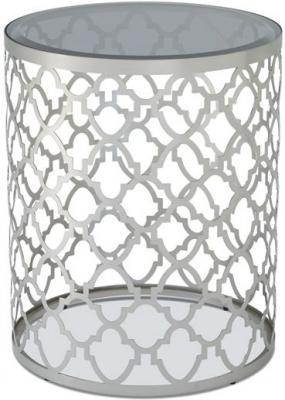 Serene Bianca Satin and Smoked Glass Lamp Table