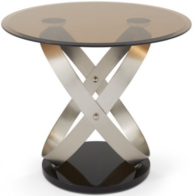 Serene Miranda Lamp Table - Glass and Satin